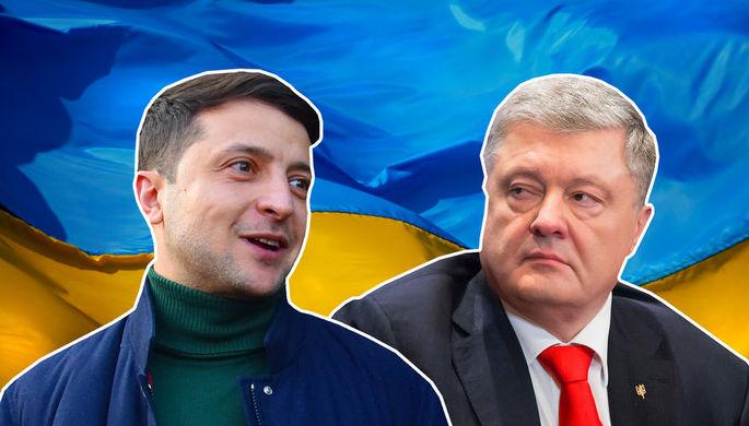 Рокировка на ТВ: ролик Зеленского заменили поздравлением Порошенко