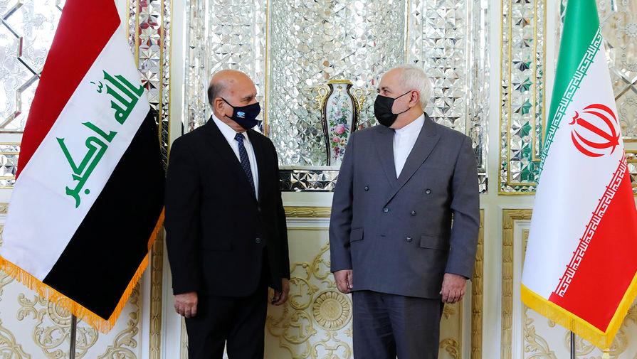 Министры иностранных дел Ирака и Ирана Фуад Хусейн и Мохаммад Джавад Зариф во время встречи в Тегеране, сентябрь 2020 года