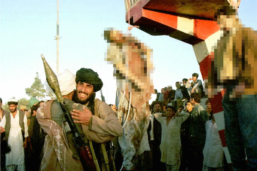 Казнь Мохаммада Наджибуллы и его брата вКабуле, 27сентября 1996года
