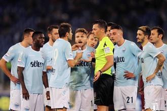 Футболисты «Лацио» недовольны решением арбитра