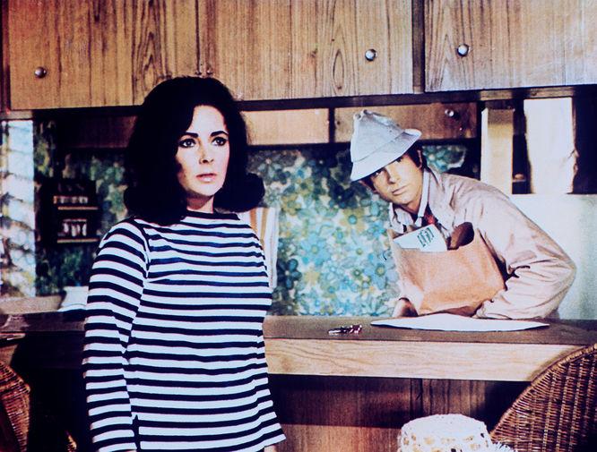 Элизабет Тейлор и Уоррен Битти в фильме «Единственная забава в городке» (1970)