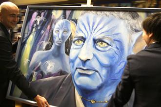 Портрет Владимира Жириновского в виде персонажа из голливудского фильма «Аватар», 2011 год