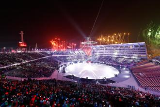 Церемония открытия Олимпиады в южнокорейском Пхёнчхане, 9 февраля 2018 года