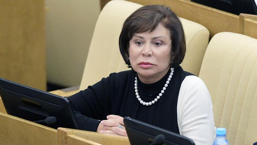 Зампред комитета Госдумы по международным делам Ирина Роднина во время заседания, 2018 год