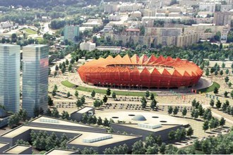 Стадион «Юбилейный», по замыслу архитекторов, должен соседствовать с технопарком