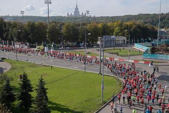 Участники на дистанции Московского марафона – 2016
