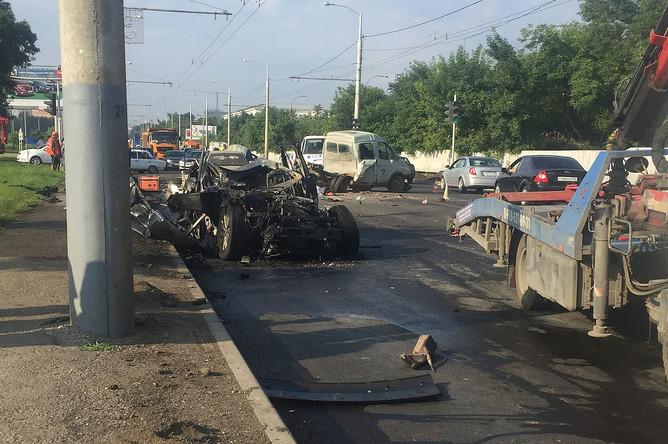 Последствия ДТП в Краснодаре, 29 июня 2017 года