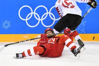 Эпизод матча Россия — Канада на Олимпиаде-2018