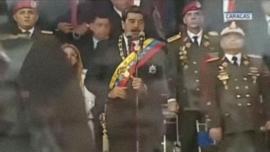 Атака дронов: на Мадуро совершено покушение