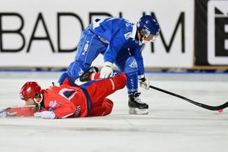 Матч чемпионата мира по бенди Финляндия- Россия