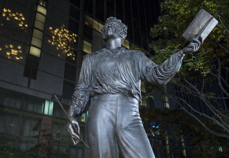 Памятник А. С. Пушкину в Сеуле