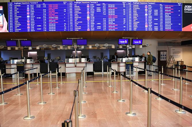 Ситуация в аэропорту Стокгольма, Швеция, 16 марта 2020 года