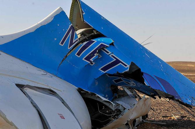 На месте крушения самолета А-321 авиакомпании «Когалымавиа» в центральной части Синайского полуострова
