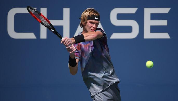 Российский теннисист Андрей Рублев дошел до 1/4 финала US Open