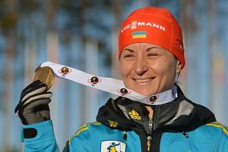 Украинская биатлонистка Валентина Семеренко