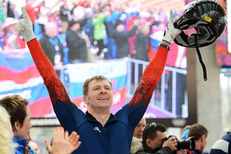 Российский бобслеист Александр Зубков на Олимпиаде-2018