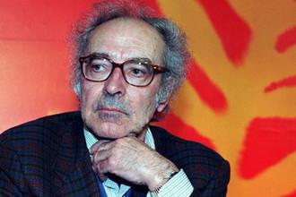 Франко-швейцарский кинорежиссер Жан-Люк Годар во время фестиваля в Каннах, 1997 год
