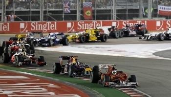 Первый поворот гонки