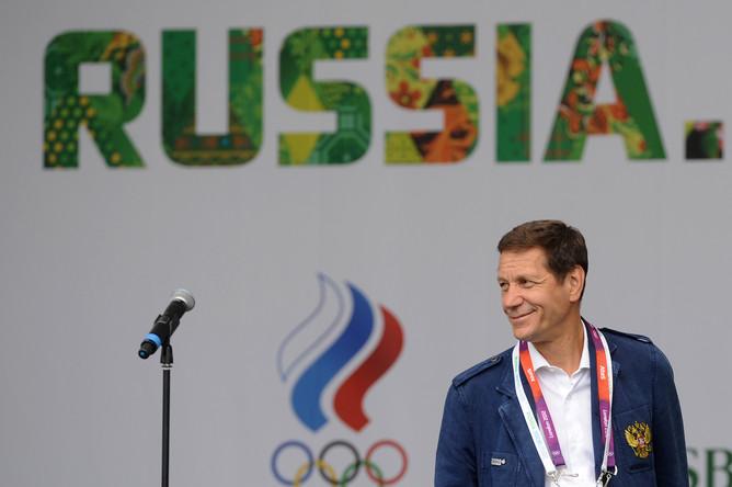 Президент Олимпийского комитета России (ОКР) Александр Жуков во время открытия официальной площадки