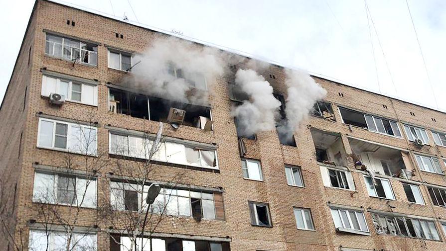 Последствия взрыва в жилом доме на улице Зеленой в Химках, 19 марта 2021 года