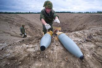 Утилизация снарядов на одном из полигонов в Ленинградской области