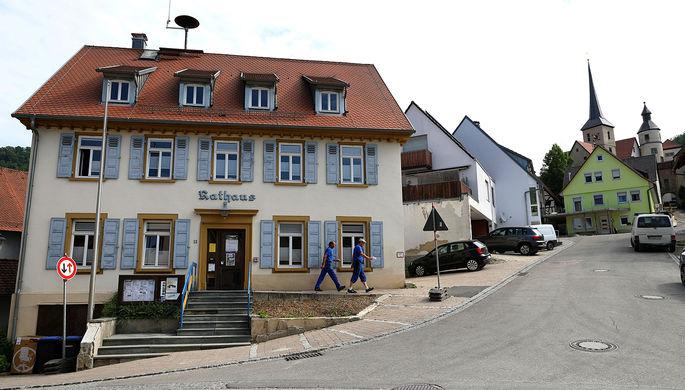Улица в коммуне Браунсбах, 29 мая 2017 года
