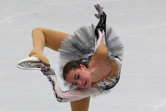 Российская фигуристка Алина Загитова на чемпионате мира в Милане