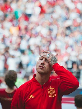 Во время матча 1/8 финала чемпионата мира по футболу между сборными Испании и России