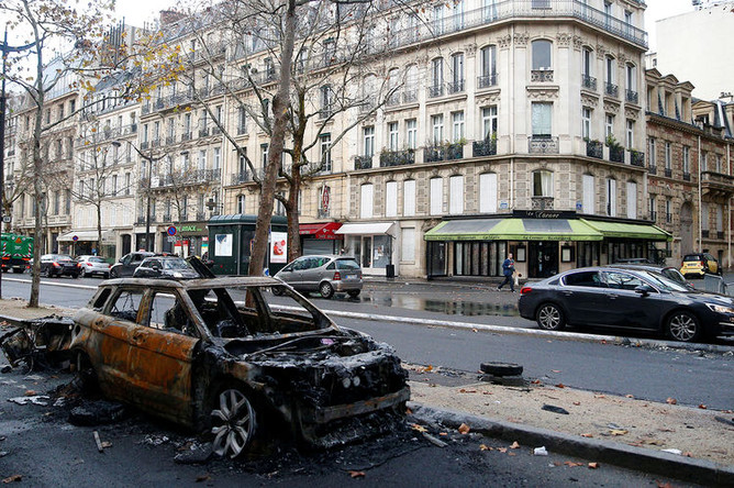 Последствия протестов в Париже, 3 декабря 2018 года