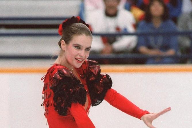 Катарина Витт на зимних Олимпийских играх в 1988 году