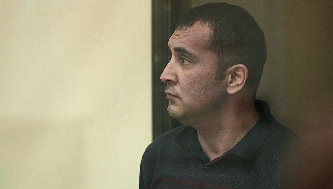Обвиняемый Обид Абдыраимов во время заседания Ленинградского окружного военного суда, 14 декабря 2017 года
