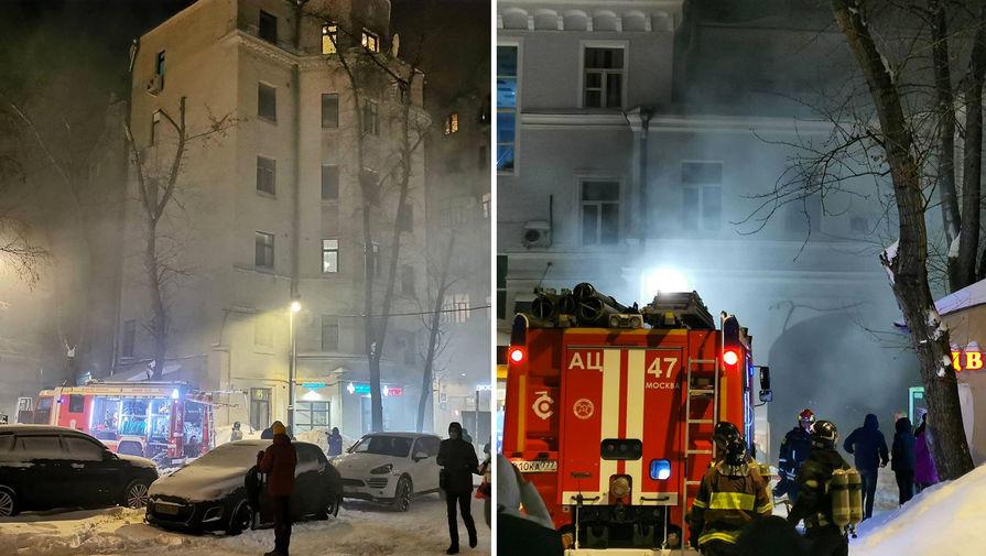 Пожар на Мясницкой улице в Москве ликвидирован