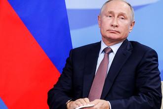 Президент России Владимир Путин во время Восточного экономического форума во Владивостоке, 11 сентября 2018 года
