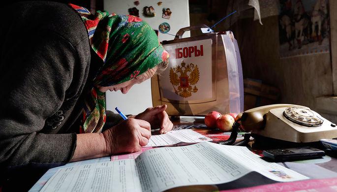 Голование на дому во время выборов в деревне под Смоленском, 2016 год