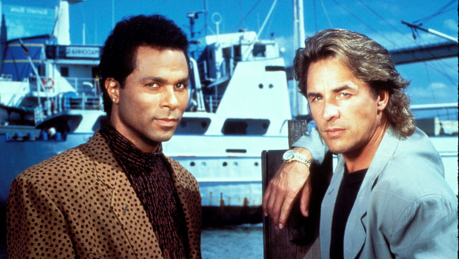Дон Джонсон и Филип Майкл Томас в сериале «Полиция Майами: Отдел нравов» (1984 – 1989)