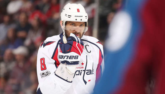 Александр Овечкин в матче НХЛ