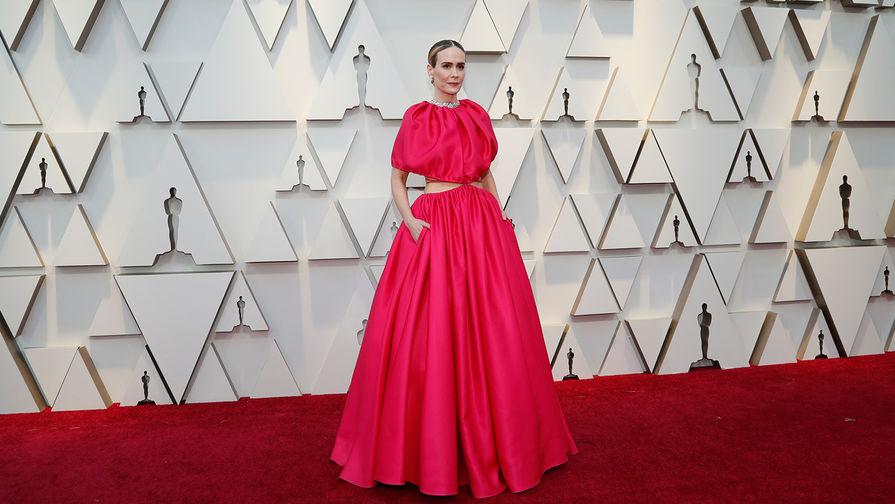 Сара Полсон на красной дорожке перед началом церемонии вручения кинопремии «Оскар» в Лос-Анджелесе, 24 февраля 2019 года