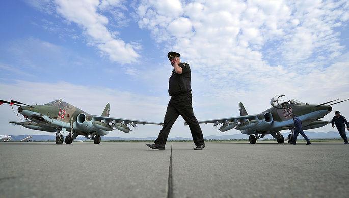 Экипажи штурмовиков Су-25 СМ