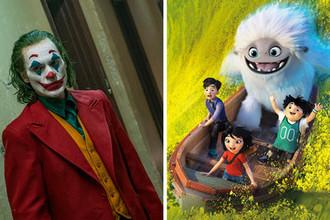 Кадр из фильмов «Джокер» и «Эверест» (коллаж)