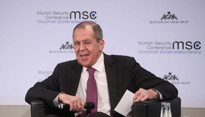 Министр иностранных дел РФ Сергей Лавров на Мюнхенской конференции по безопасности, 16 февраля 2019 года
