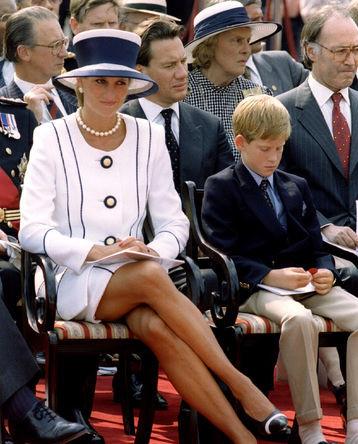 Принцесса Уэльская Диана и принц Гарри в Лондоне, 1995 год