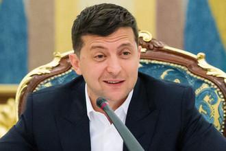 Президент Украины Владимир Зеленский на заседании Нацсовета по вопросам антикоррупционной политики в Киеве, 18 июля 2019 года