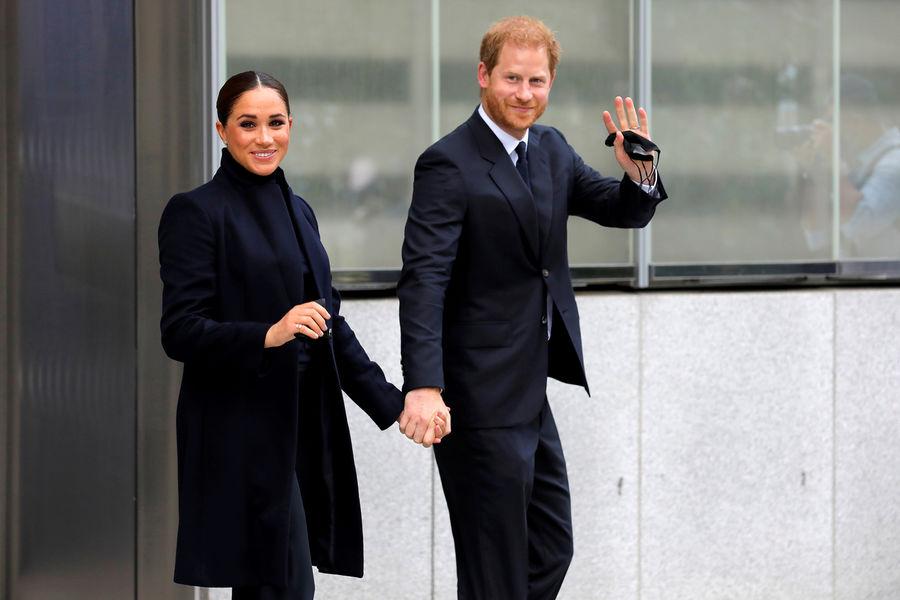 Меган Маркл и принц Гарри вНью-Йорке, 23сентября 2021года