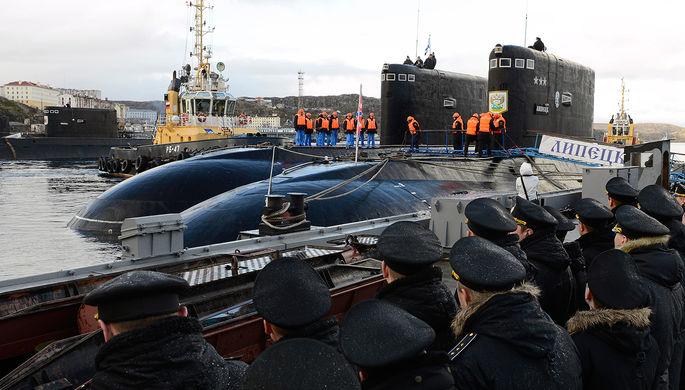 Дизель-электрические подводные лодки Северного флота «Калуга» и «Липецк» у...