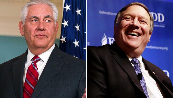 Глава ЦРУ Майк Помпео и госсекретарь США Рекс Тиллерсон (коллаж)