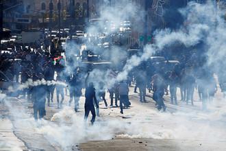 Беспорядки, начавшиеся во время протестов в Палестине