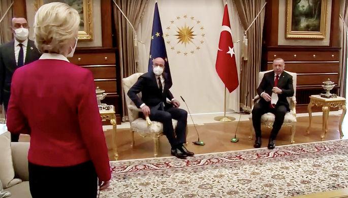 «Унизительное положение»: как в Турции подставили под удар главу Евросовета