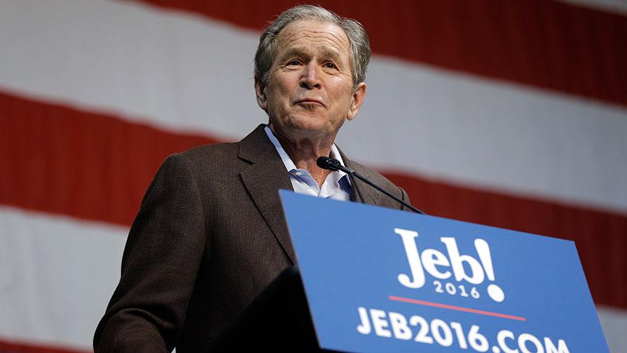 Джордж Буш принял личное участие в предвыборной гонке и поддержал своего брата — кандидата-республиканца Джеба Буша