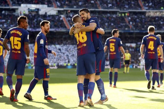 «Барселона» празднует победу