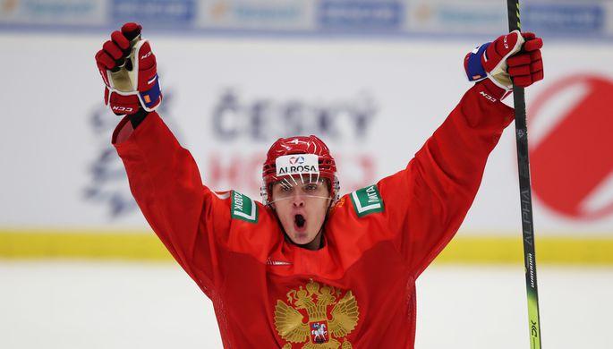 Игрок молодежной сборной России по хоккею Антон Малышев